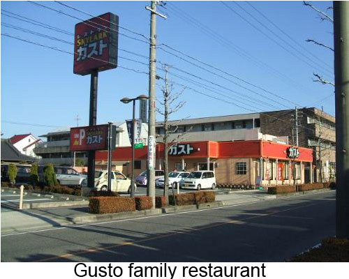 A Gusto restaurant in Japan