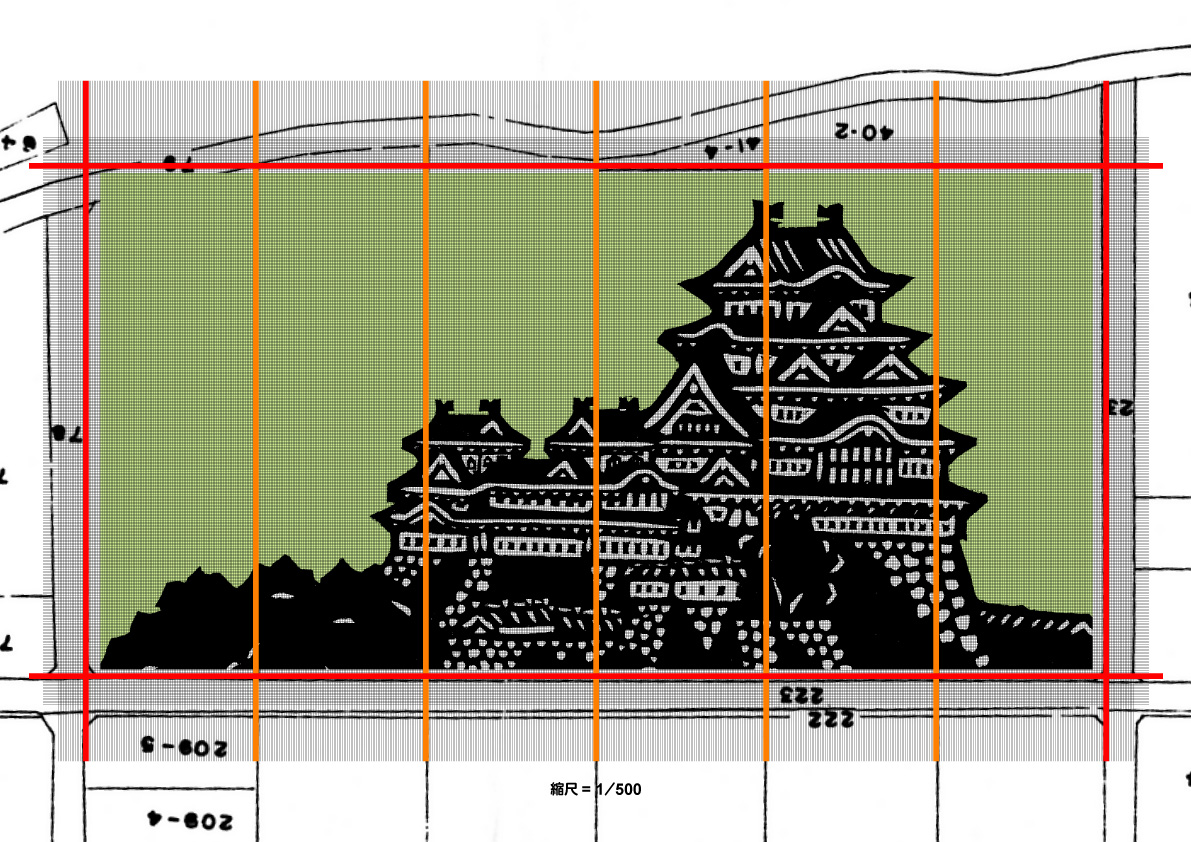 Himeji rice paddy art design layout