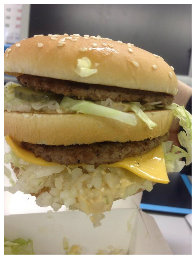 Japan McDonald's puts extra onions on Big Mac per request