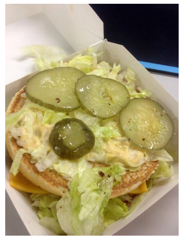 Japan McDonald's gives free extra pickles on burgers upon request