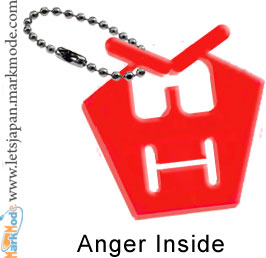 Anger inside badge Japan