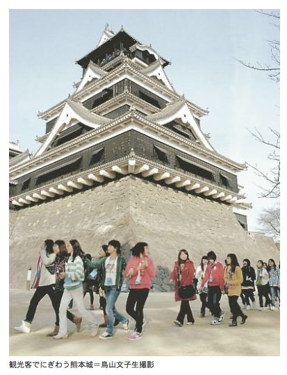 Castles are popular attractions now in Japan.