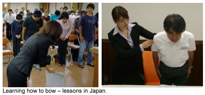 Taking bowing lessons inJapan.