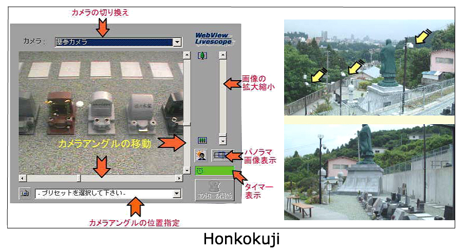 Live webcam stream of graveyard and tombstones at Honkokuji temple in Sendai, Japan