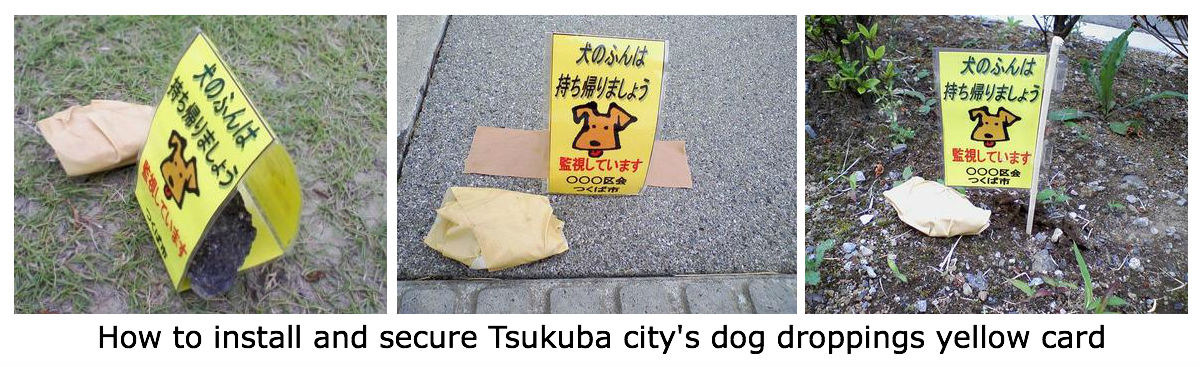Yellow card dog droppings picked up in Japan