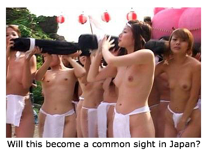 topless women naked festival japan