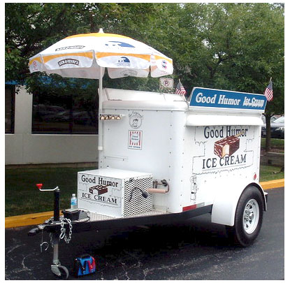 Good Humor ice cream cart circa 1967 USA