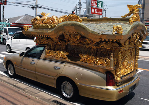 Funeral hearse in Japan