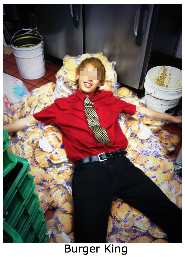 Part-time employee at a Burger King in Japan sleeps on buns in kitchen