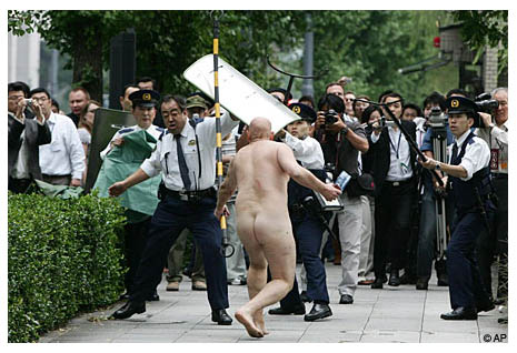 British tourist swims nude in Japan Imperial Palace moat.