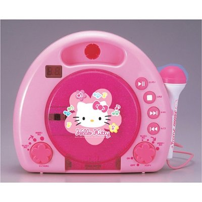 Hello Kitty karaoke CD microphone for kids in Japan