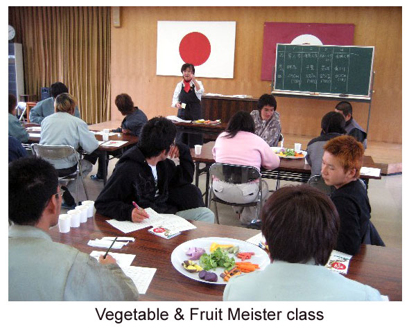 Vegetable and fruiti meister lesson class Japan
