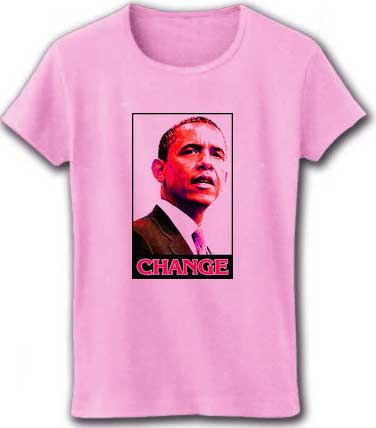 User-created tee shirt design features Obama in Japan
