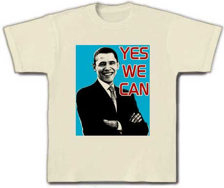 Japanese t-shirt website sells Obama Yes We Can tee shirts