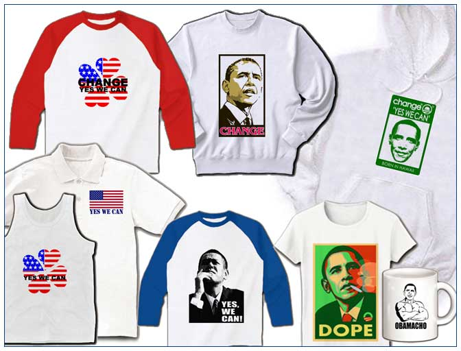 President Obama t-shirts on sale in Japan November 2008.
