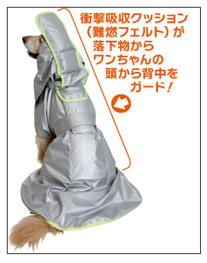 Disaster cape for dogs in Japan