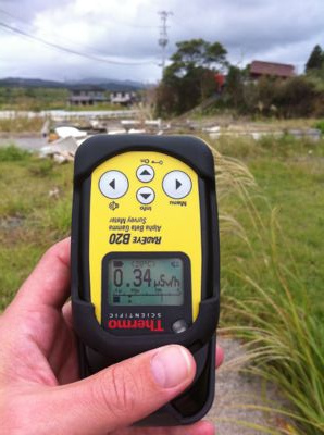 Measuring radiation in Japan