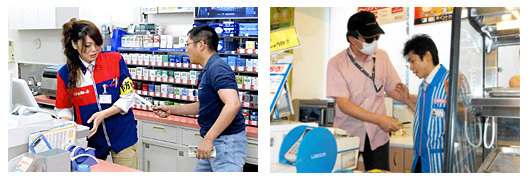 Convenience store clerks trained by Tokyo police.