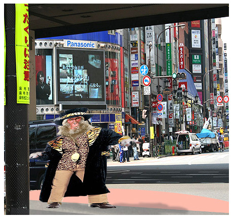 The Shibuya monkey of Tokyo may be selling drugs in Roppongi.