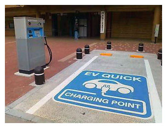 Electric vehicle charging station in Japan