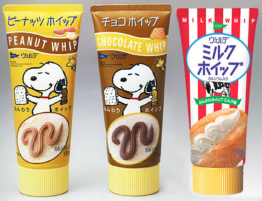 Snoopy peanut and choco whip in Japan.