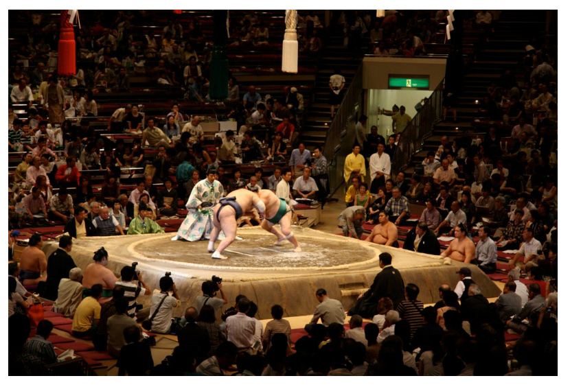 No surveillance camera in kokugikan sumo hall September 2009
